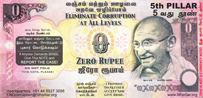 The Zero Rupee note